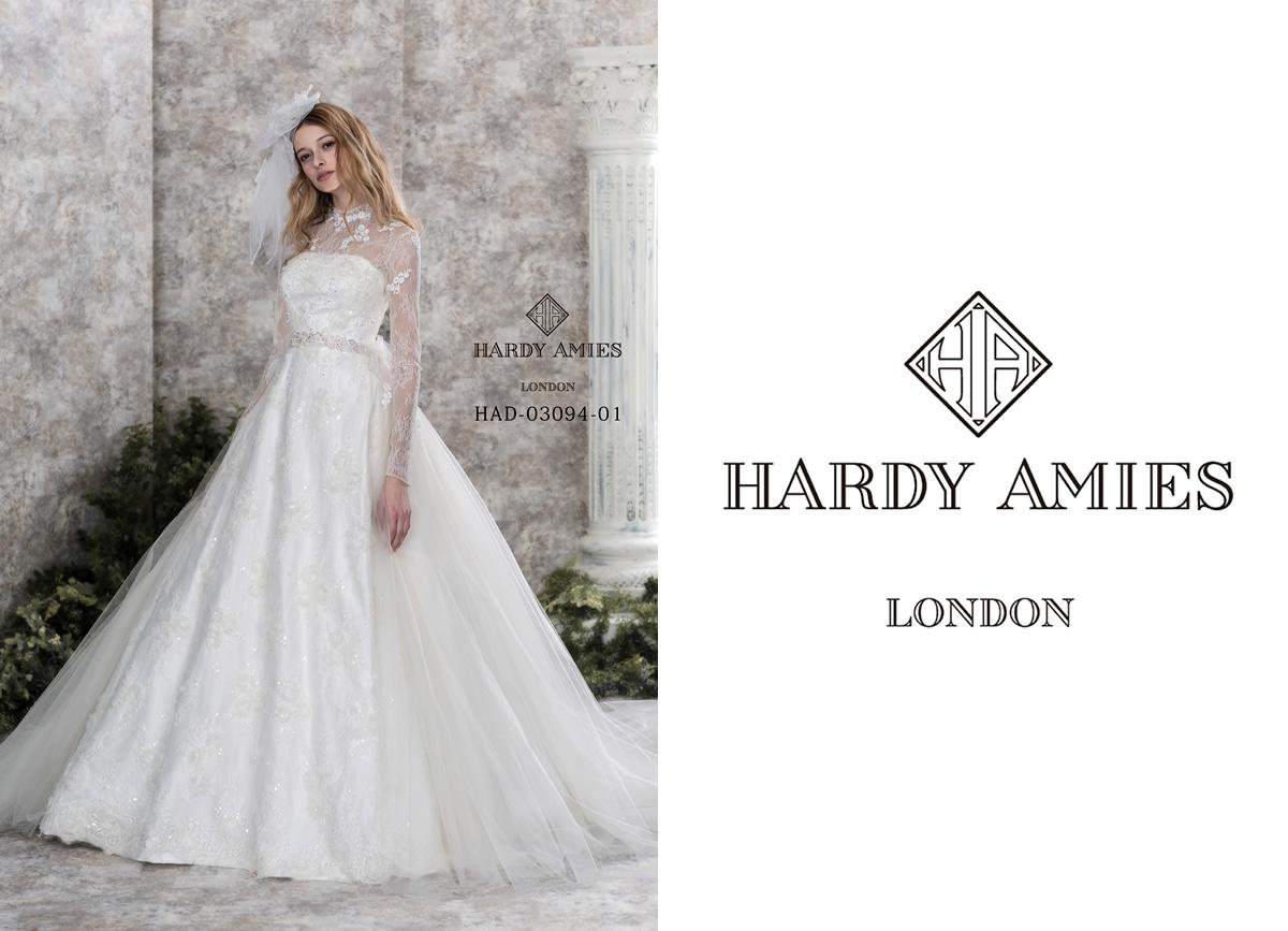 英国王室御用達のハーディーエイメスのウエディングドレス