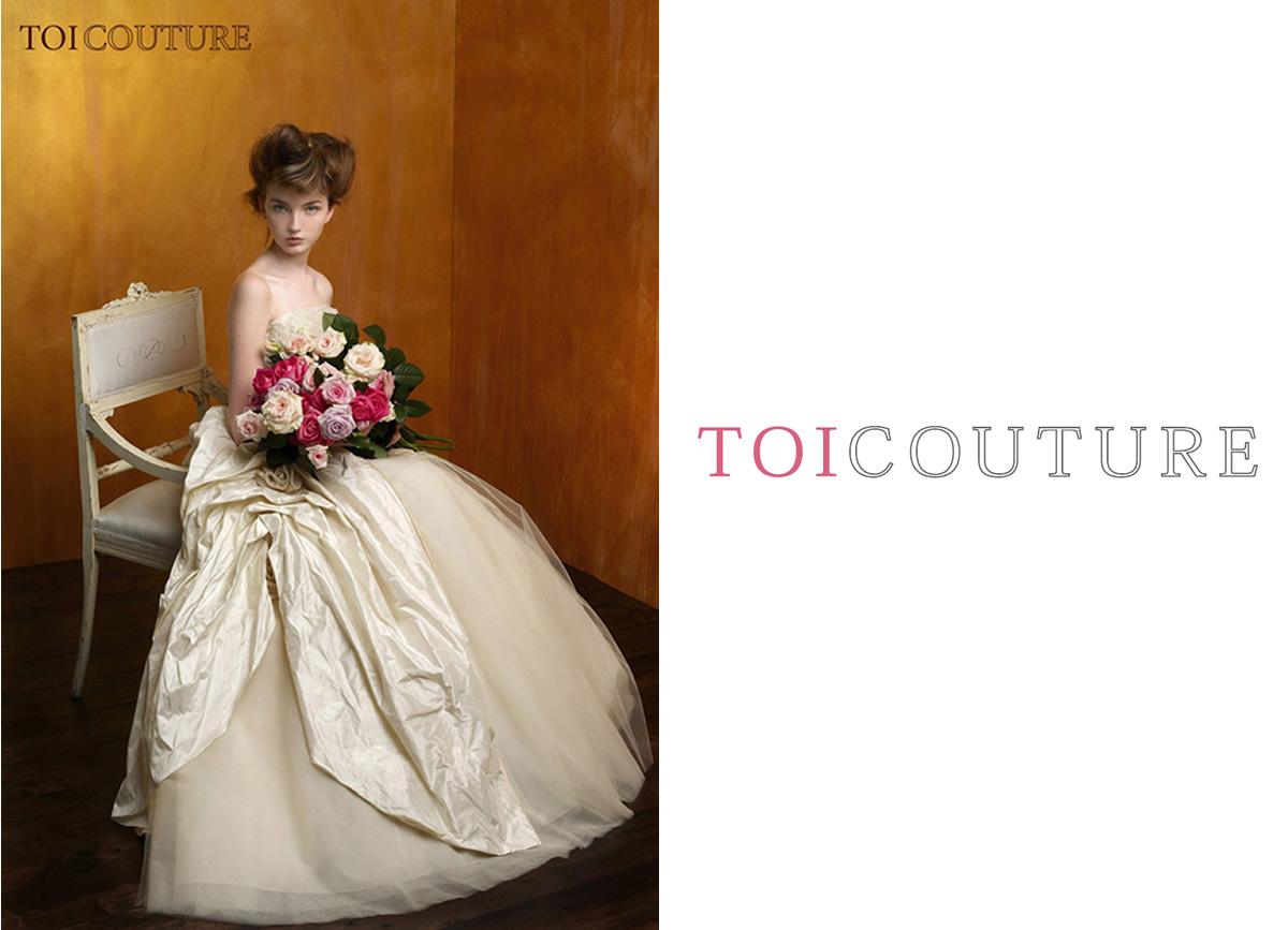 トイクチュールのウエディングドレス