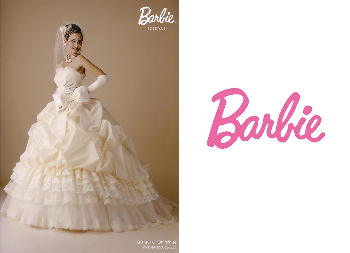 バービーのウエディングドレス