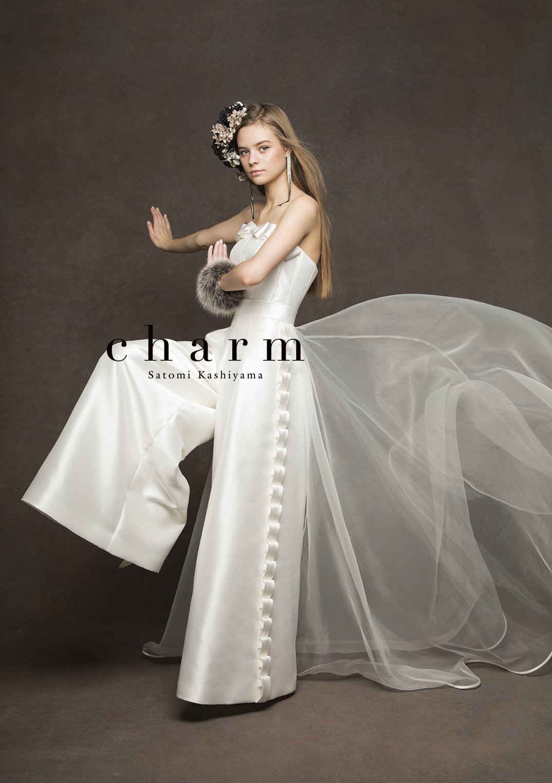 千代屋の新作ドレス パンツスタイルのウエディングドレス
